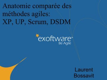 Anatomie comparée des méthodes agiles XP UP Scrum DSDM
