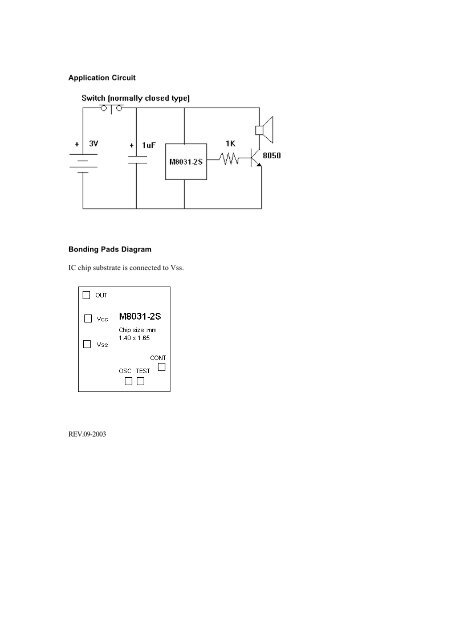 Application Circuit Bondi
