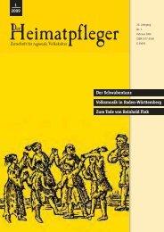 Der Schwabentanz Volksmusik in Baden-Württemberg Zum Tode von Reinhold Fink