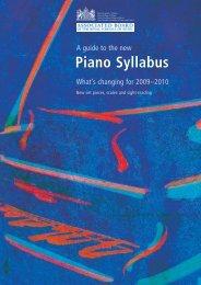 Piano Syllabus