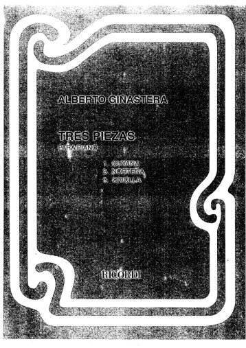 Tres Piezas 1 Guyana - Free Piano Sheet Music by WrittenMelodies ...