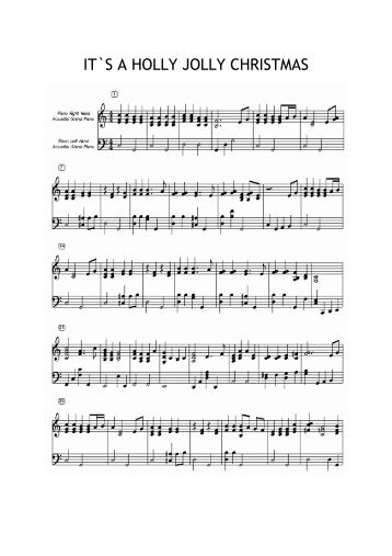 It's A Holly Jolly Christmas - Free Piano Sheet Music by ...