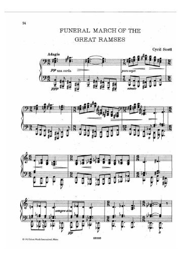 Funeral March of the Great Ramses - Free Piano Sheet Music by ...