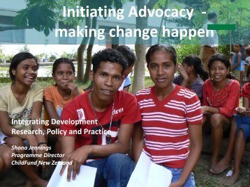 Initiating Advocacy - making change happen