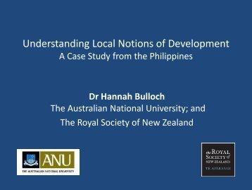 Understanding Local Notions of Development