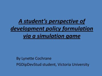 Cochrane , Lynette. A student's perspective of ... - DevNet