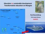 Education as sustainable development Transformative education on Mangaia