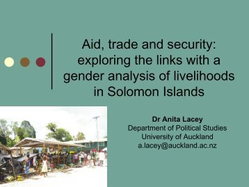 Lacey, Anita. Aid, trade and security.pdf - DevNet