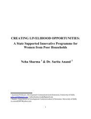 Sharma, Neha & Anand, Saria Creating Livelihood ... - DevNet