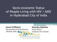 Williams, Jason & Bathula, Hanoku AIDS in Hyderabad ... - DevNet