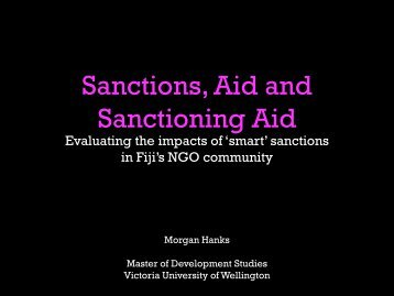 Sanctions Aid and Sanctioning Aid