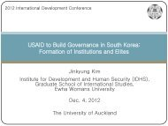 USAID to Build Governance in South Korea Formation of Institutions and Elites
