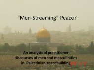 """Men-Streaming"" Peace?"