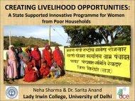 CREATING LIVELIHOOD OPPORTUNITIES