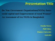 An Assessment of two NGOs in Bangladesh