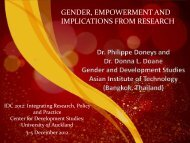 GENDER EMPOWERMENT AND IMPLICATIONS FROM RESEARCH