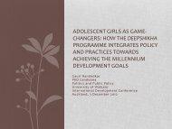 Nandedkar, Gauri Adolescent Girls as Game-Changers ... - DevNet