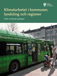 Klimatarbetet i kommuner landsting och regioner