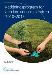 Räddningsprogram för den kommunala servicen 2010–2013