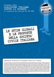 LE SFIDE GLOBALI E LA NECESSITÀ DI AGIRE PER IL ... - Link 2007