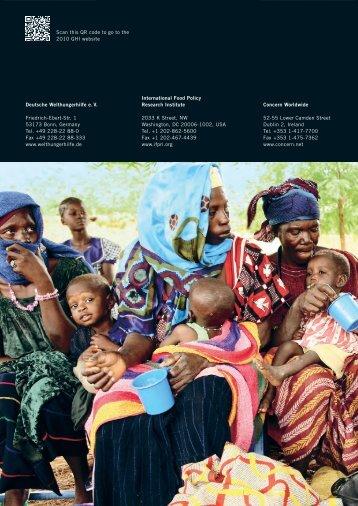 Indice Globale della fame 2010 - Cesvi