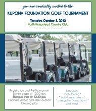 KUPONA FOUNDATION GOLF TOURNAMENT