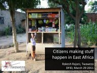 Citizens making stuff happen in East Africa