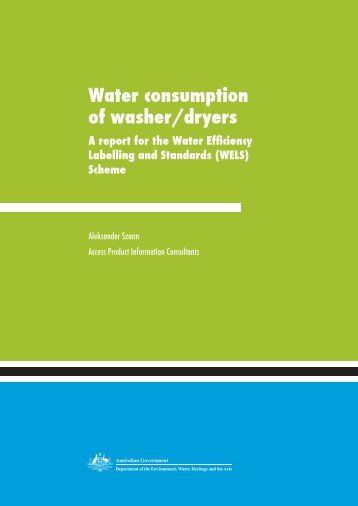 Water consumption of washer/dryers