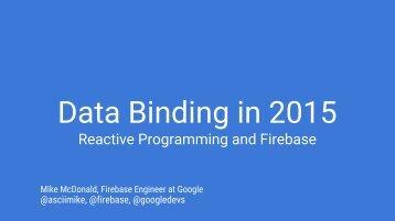 Data Binding in 2015