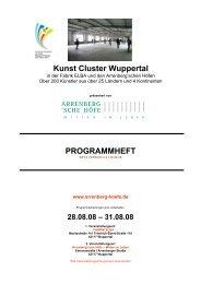 PROGRAMMHEFT Kunst Cluster Wuppertal - Arrenberg´sche Höfe