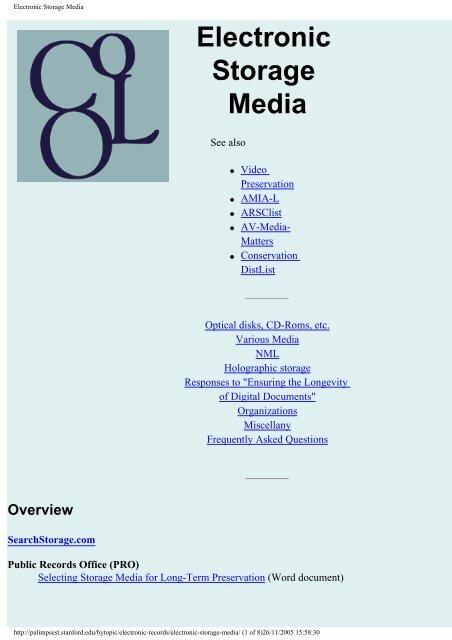 Electronic Storage Media Imaginar