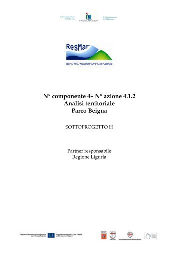 N° componente 4– N° azione 4.1.2 Analisi territoriale Parco Beigua