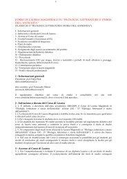Scarica il documento con tutte le informazioni relative al Corso di ...