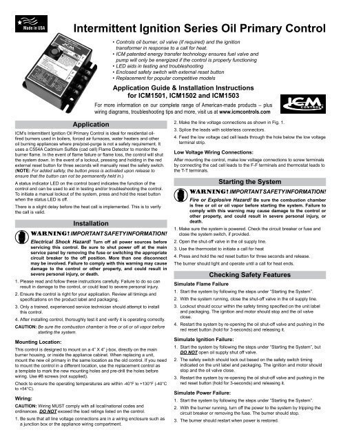 Intermittent Ignition Series Oil Primary Control - ICM Controls on car stereo wiring diagram, furnace wiring diagram, balboa spa pack wiring diagram,