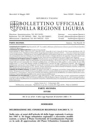 Regione toscana giunta regionale sezioni regionali - Regione liguria certificazioni energetiche ...