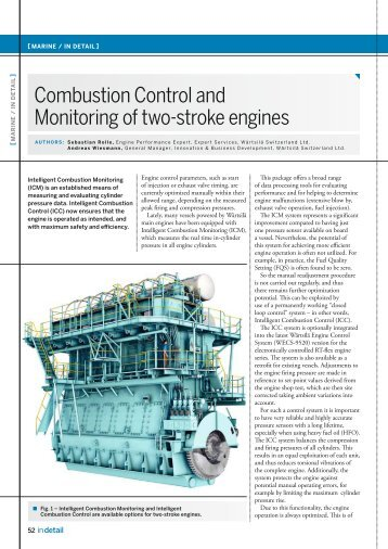 Combustion Control and Monitoring of two-stroke engines - Wärtsilä