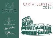 CARTA SERVIZI 2013