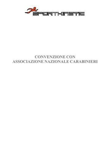 CONVENZIONE CON ASSOCIAZIONE NAZIONALE CARABINIERI