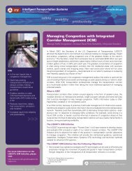 safety mobility productivity - Intelligent Transportation Systems - U.S. ...