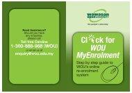 MyEnrolment Booklet Mar10_3 - Wawasan Open University