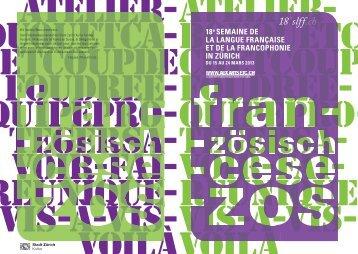 Programme - Cercle Romand Winterthur