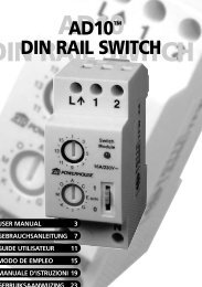 AD10 DIN RAIL SWITCH