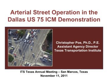 Arterial Street Operation in the Dallas US 75 ICM ... - ITS Texas