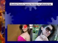 Mumbai Escorts Agency Services 91-9892363739