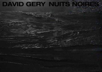 DAVID GERY NUITS NOIRES