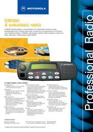 GM360 A sokoldalú rádió
