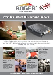 Provides instant GPS service indoors