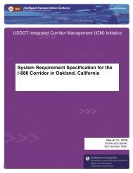 System Requirement Specification for the I-880 Corridor in Oakland ...