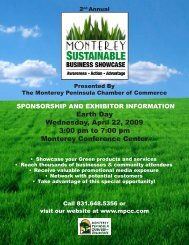Earth Day Wednesday April 22 2009 3:00 pm to 7:00 pm Monterey Conference Center