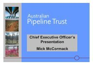 Chief Executive Officer's Presentation Mick McCormack